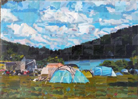 Narlay- peinture sur toile - frédéric cresson