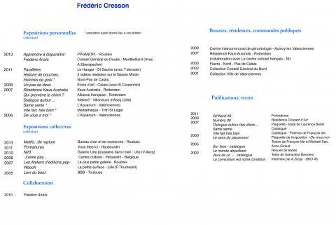frederic cresson cv